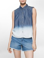Calvin Klein Ombrè Sleeveless Denim Shirt