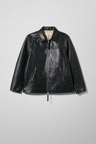 Weekday Jim Leather Jacket - Black