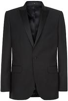 Jaeger Mohair Wool Modern Fit Suit Jacket, Black