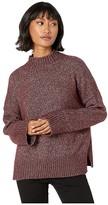 1 STATE 1.STATE Marled Turtleneck Sweater w/ Eyelashes (Vintage Rouge) Women's Sweater