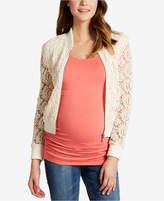 Motherhood Maternity Lace Full-Zip Jacket