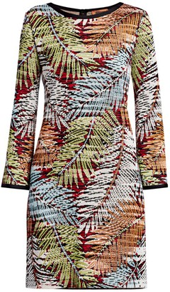 Missoni Palm Print Knit Sheath Dress