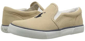 Polo Ralph Lauren Kids Bal Harbour II (Little Kid) (Navy Chambray/Navy Pony Player) Boy's Shoes