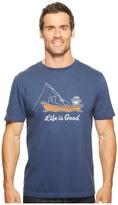 Life is Good Kickback Fish Crusher Tee Men's T Shirt
