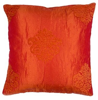 "Duomo Floral Pillow Cover Madura Size: 15.6"" H x 15.75"" W x 0.39"" D, Color: White"
