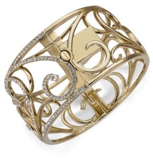Eliot Danori Gold-Tone Pave Openwork Bangle Bracelet, Created for Macy's