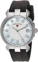 Swiss Legend SL-16591SM-02 Women's Layla Quartz Stainless Steel and Silicone Automatic Wrist Watch, Dial with Black Band
