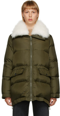Yves Salomon   Army Yves Salomon - Army Khaki Down Lamb Fur Jacket