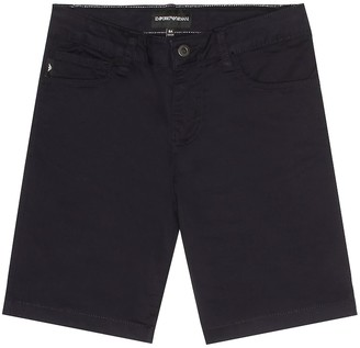 Emporio Armani Kids Stretch cotton shorts