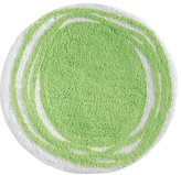 InterDesign Doodle Bedroom and Bathroom Accent Rug, Lime