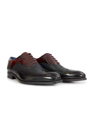 Ted Baker Shine Brogues Colour: DARK RED, Size: UK 7