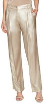 Silk High-Rise Pleated Pant