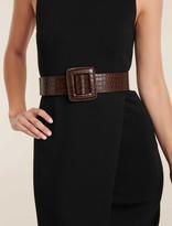 Ever New Olivia Covered Buckle Wide Belt