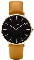 Cluse Women's 38mm Mustard Leather Band Steel Case Quartz Watch Cl18420