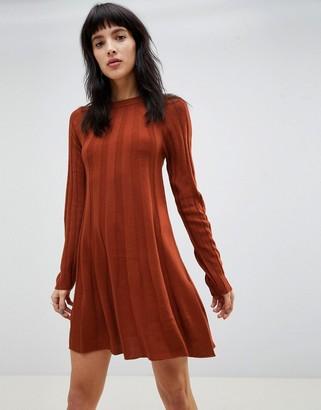 ASOS DESIGN rib swing dress in knit