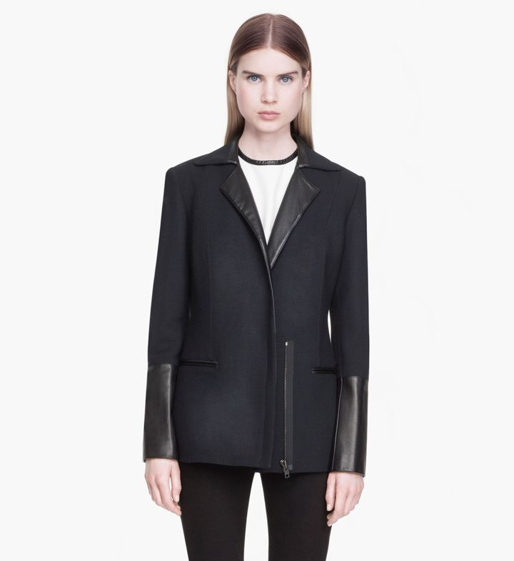 Helmut Lang Expo Wool Leather Coat