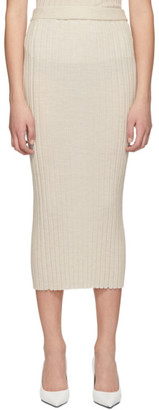 Helmut Lang Off-White Rib Skirt