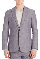Billy Reid Rustin Linen Blend Jacket