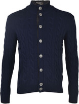 Barba Cable Knit Cardigan