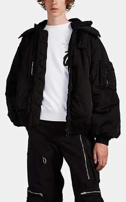 Off-White Men's Glitter-Logo Tech-Twill Bomber Jacket - Black