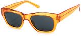 A. J. Morgan Orange Rectangular Sunglasses