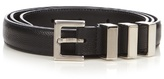 Saint Laurent Triple-loop Pebbled-leather Belt