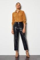 Croc Effect Faux Leather Cigarette Trouser