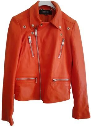 Gucci Orange Leather Jackets