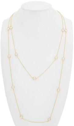 Rivka Friedman 18K Yellow Gold Cz Layered Station Necklace