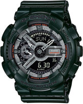 G-Shock Women's Analog-Digital S-Series Metallic Green Resin Strap Watch 46x49mm GMAS110MC-3A