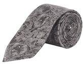 Burton Mens Charcoal Floral Print Tie