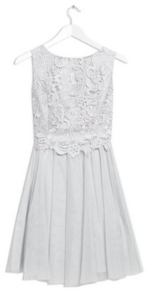 Dorothy Perkins Womens Only Grey Lace Prom Dress, Grey