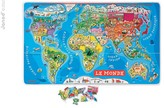 Janod Magnetic puzzle - World