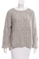 Nili Lotan Alpaca Rib Knit Sweater