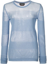 Rochas panelled knit top - women - Cotton - 42