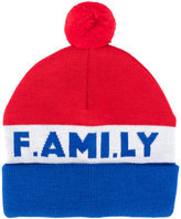 Ami Alexandre Mattiussi 'F.AMI.LY' knitted beanie - men - Virgin Wool - One Size