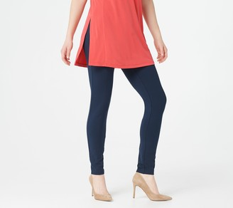 Susan Graver Petite Weekend PremiumStretch Leggings with Button Detail