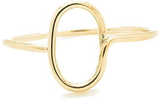 Atelier Paulin 18k Yellow Gold Alphabet Ring, Size 4.5-9