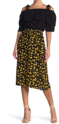 FRNCH Floral Print Midi Skirt