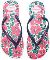Havaianas Slim Floral Sandal in Pink. - size US 11/12/ BRZ 41-42 (also in US 7/8/ BRZ 37-38,US 9/10/ BRZ 39-40)