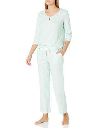 Karen Neuburger Women's Pajamas 3/4 Sleeve Pullover Henley Pj Set