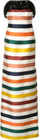Carolina Herrera embellished bustier striped gown - women - Silk/Cotton - 12