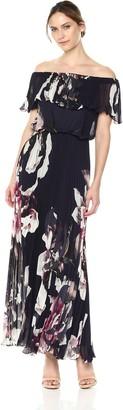 Xscape Evenings Women's Long Chiffon Dress