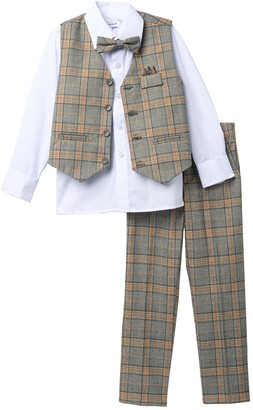 Isaac Mizrahi Multi Check Vest Set (Toddler & Little Boys)