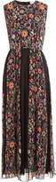 RED Valentino Crepe Floral Print Mid-Length Dress