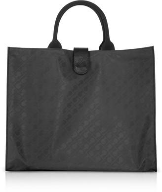 Gherardini Black Softy Squared Foldable Tote