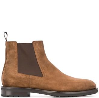 Santoni elasticated panel Chelsea boots