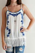 Entro Embroidered Tank Top