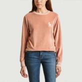 Ines De La Fressange Paris - Peach Cotton Joy Velour Sweatshirt - s | cotton | peach - Peach
