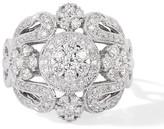 Effy Jewelry Effy Bouquet 14K White Gold Diamond Filigree Ring, 1.10 TCW
